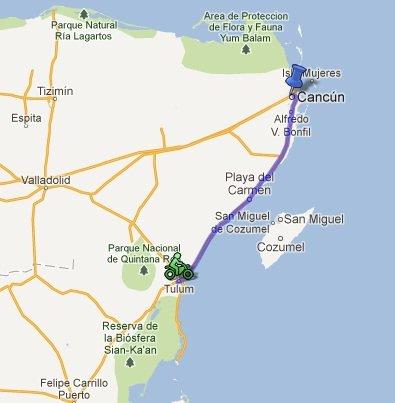 Les 150 premiers Km plan-tulum